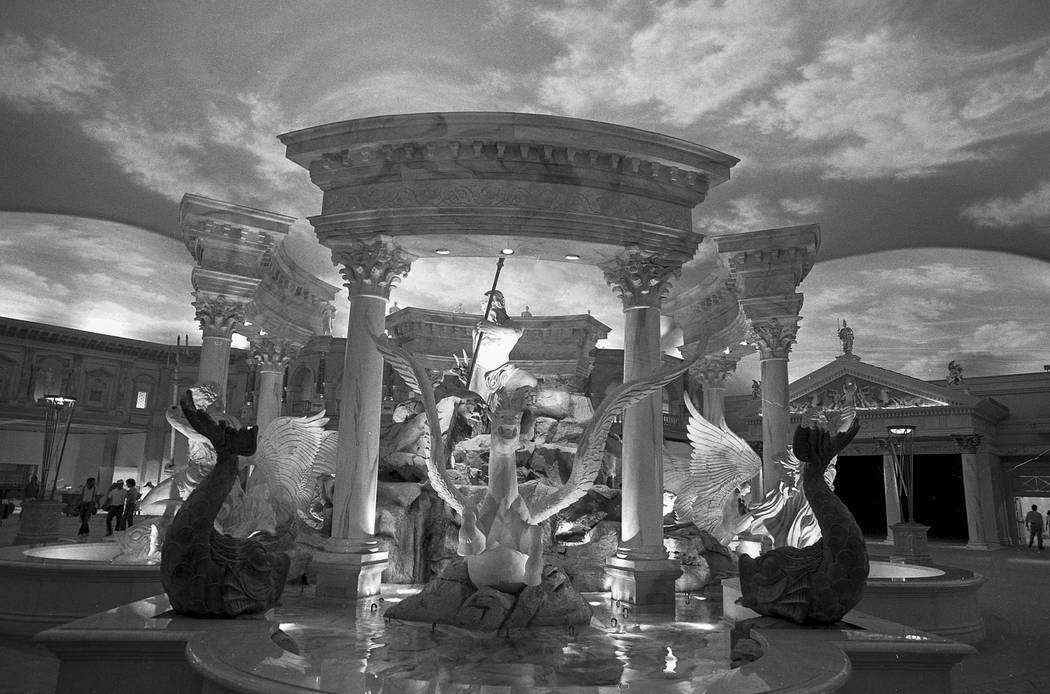 A collection of images taken during construction of the Forum Mall at Caesars Palace in 1992. Caesars Forum Shops.