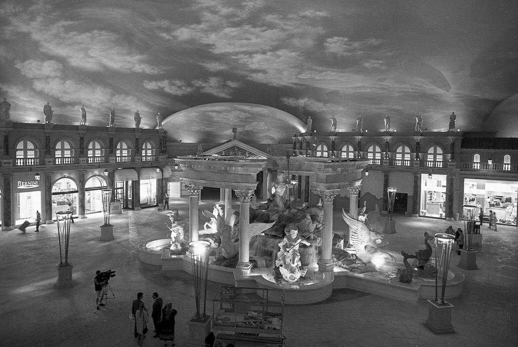 A collection of images taken during construction of the Forum Mall at Caesars Palace in 1992. Caesars Forum Shops