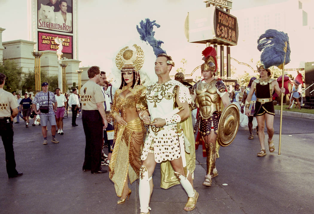 Forum Shops phase 2 opening at Caesars Palace on August 28, 1997. Caesars Palace