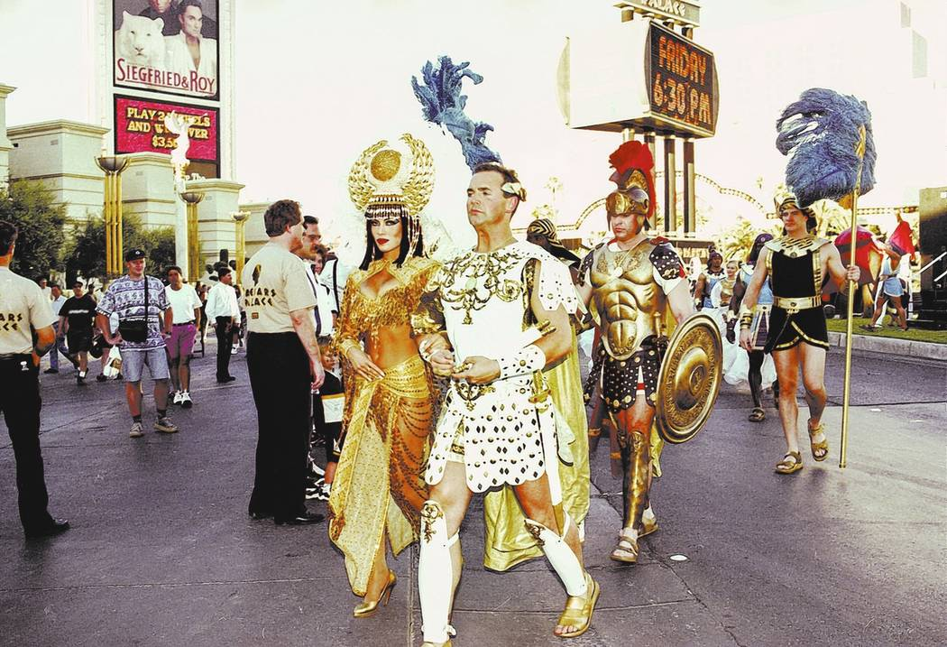 Forum Shops phase 2 opening at Caesars Palace in 1997. Caesars Palace