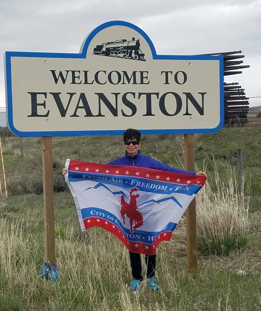Helene Neville in Evanston, Wyoming. (Courtesy)