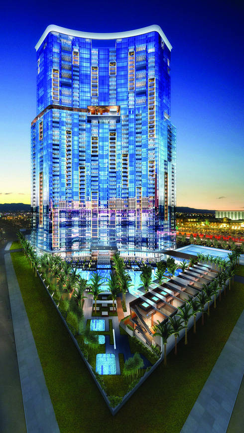 Florida developer Chris DelGuidice laid out plans during the bubble years to build Vegas 888, a 50-story condo tower shown in the above rendering. But he lost the land to foreclosure. Del American ...