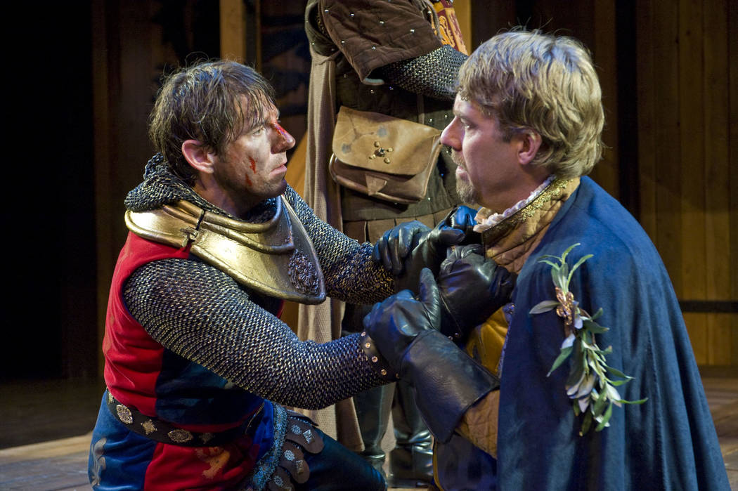 "Utah Shakespeare Festival's Brian Vaughn and David Ivers, as they appeared in USF's 2009 production of ""Henry V."" The following year, they were hired as USF's co-artistic directors; Iver ..."