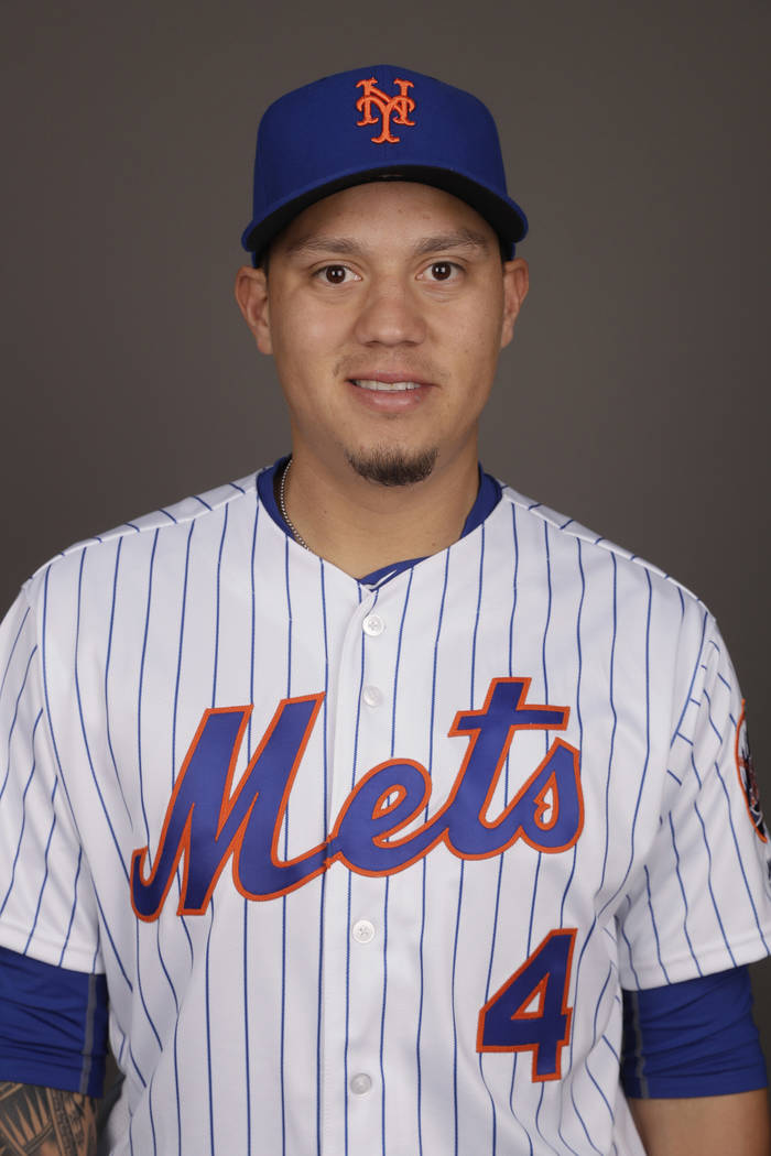 This is a 2017 photo of Wilmer Flores of the New York Mets. This image represents the Mets active roster on Wednesday, Feb. 22, 2017, in Port St. Lucie, Fla. (AP Photo/David J. Phillip)