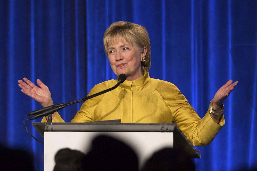 Hillary Clinton said she's taking responsibility for her election loss but believes misogyny, Russian interference and questionable decisions by the FBI also influenced the outcome. (Kevin Hagen/AP)