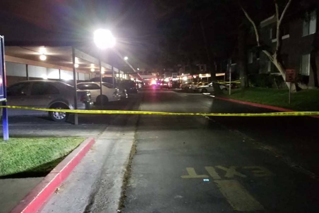 A 19-year-old was arrested in the shooting death of a 48-year-old man after an April 26 brawl at 5100 O'Bannon Drive. Mike Shoro/Las Vegas Review-Journal
