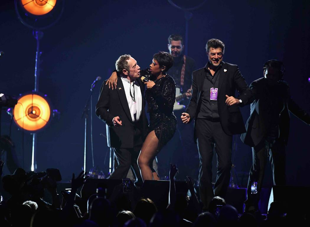 "Jennifer Hudson performs during the Keep Memory Alive ""Power of Love Gala"" at MGM Grand Garden Arena on Thursday, April 27, 2017, in Las Vegas.  (Ethan Miller/Getty Images for Keep Memory Alive)"