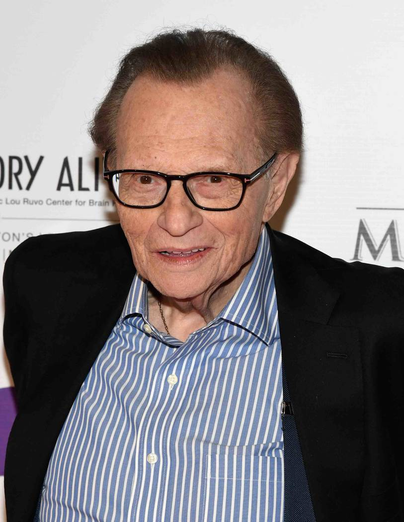 "Larry King arrives at the Keep Memory Alive ""Power of Love Gala"" at MGM Grand Garden Arena on Thursday, April 27, 2017, in Las Vegas. (Ethan Miller/Getty Images for Keep Memory Alive)"