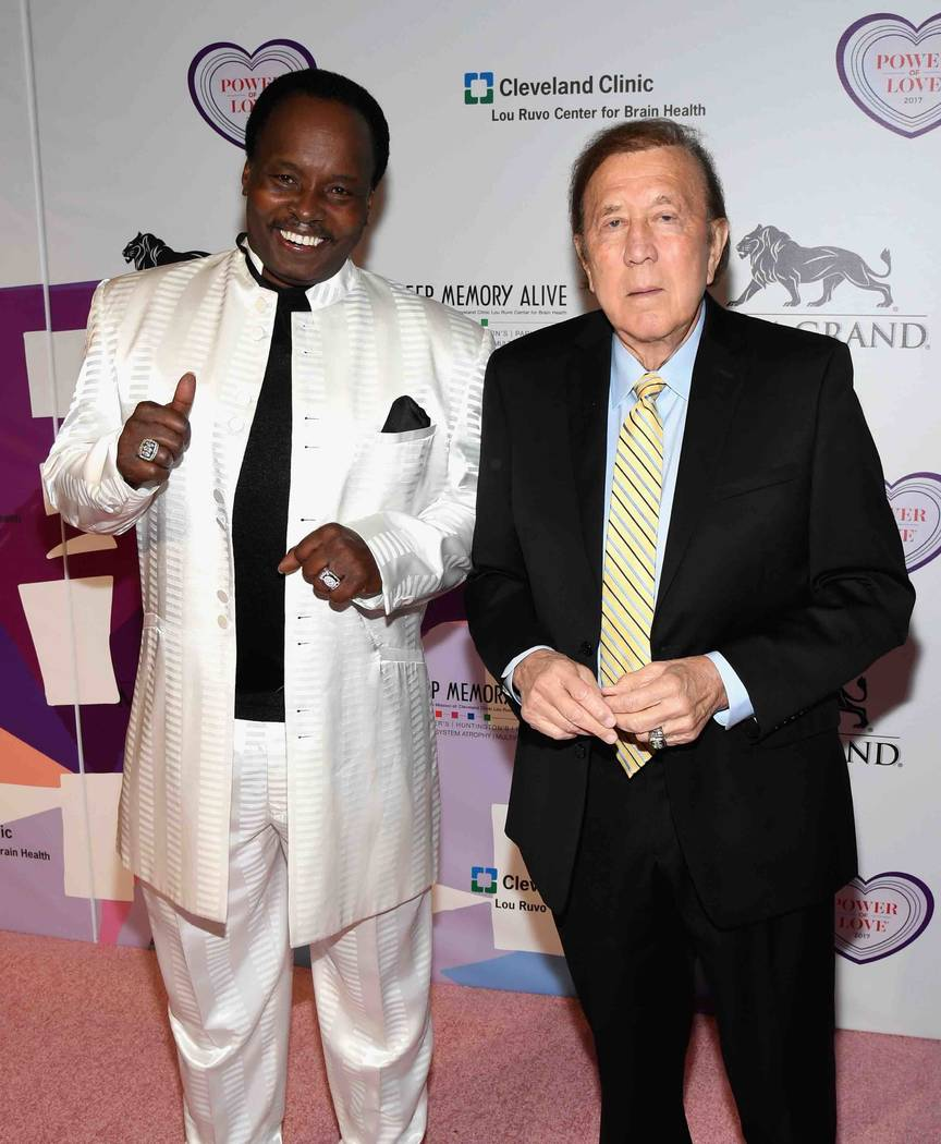 "Lester Hays and Tom Flores attend the Keep Memory Alive ""Power of Love Gala"" at MGM Grand Garden Arena on Thursday, April 27, 2017, in Las Vegas.  (Ethan Miller/Getty Images for Keep Memory Alive)"
