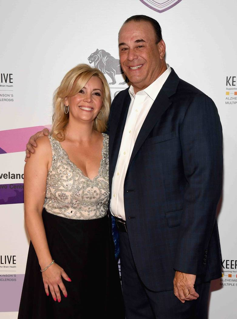 "Nicole Taffer and Jon Taffer arrive at the Keep Memory Alive ""Power of Love Gala"" at MGM Grand Garden Arena on Thursday, April 27, 2017, in Las Vegas.  (Ethan Miller/Getty Images for Keep Memory A ..."