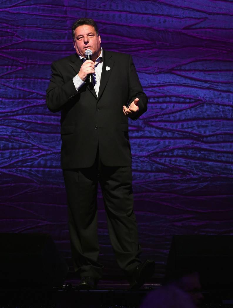 "Steve Schirripa speaks during the Keep Memory Alive ""Power of Love Gala"" at MGM Grand Garden Arena on Thursday, April 27, 2017, in Las Vegas. (Ethan Miller/Getty Images for Keep Memory Alive)"