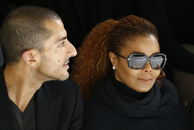 Janet Jackson and her husband  Wissam Al Mana attend the Hermes Spring/Summer 2016 women's ready-to-wear collection show in Paris, Oct. 5, 2015. (Benoit Tessier/Reuters)
