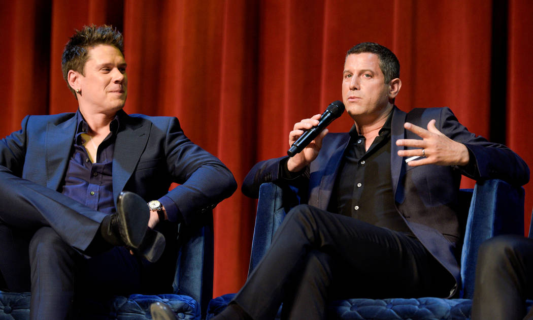 """David Miller and Sebastien Izambard of Il Divo discuss their headline limited engagement, """"Il Divo -- This Is Your Night: Live in Las Vegas,"""" at The Venetian on Tuesday, May 2, 2017, in Las Vegas. ..."""