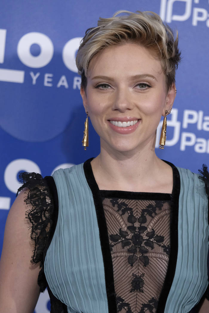 Scarlett Johansson attends the Planned Parenthood 100th Anniversary Gala on Tuesday, May 2, 2017 in New York. (Charles Sykes/Invision/AP)