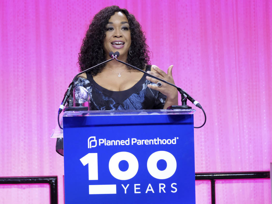 Shonda Rhimes speaks at the Planned Parenthood 100th Anniversary Gala on Tuesday, May 2, 2017 in New York. (Charles Sykes/Invision/AP)