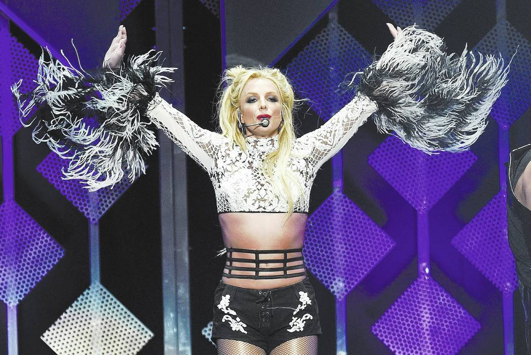 Britney Spears performs at the 2016 Jingle Ball at Staples Center on Friday, Dec. 2, 2016, in Los Angeles. (Chris Pizzello/Invision/AP)