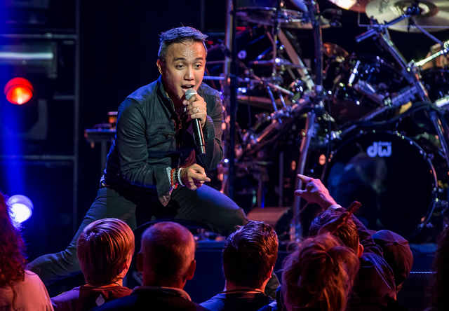 Singer Arnel Pineda brings the energy to the veteran classic-rock band Journey at The Joint at The Hard Rock Hotel in 2015 in Las Vegas. (Erik Kabik)