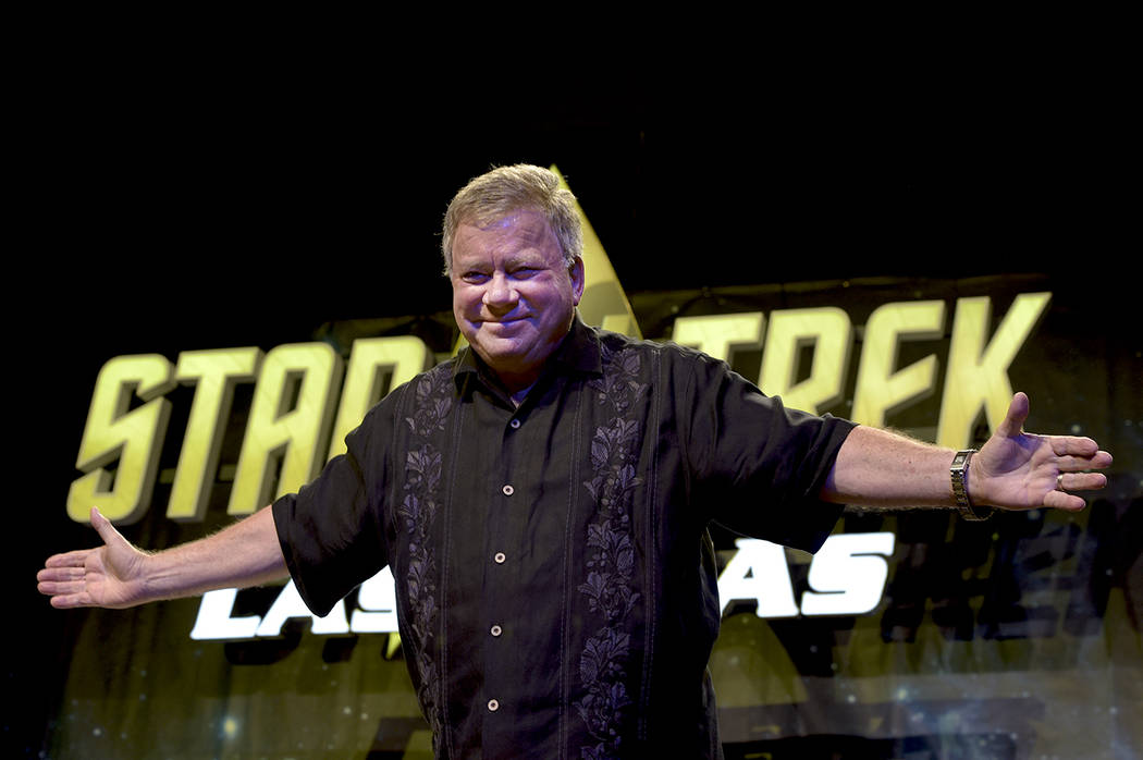 William Shatner attends The Star Trek Convention at The Rio on Saturday, Aug. 6, 2016, in Las Vegas. (Glenn Pinkerton/Las Vegas News Bureau)