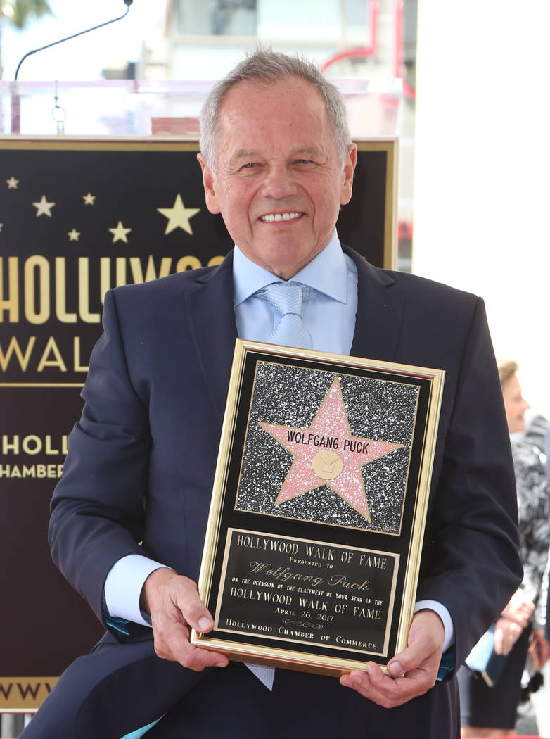 Wolfgang Puck receives a star on The Hollywood Walk of Fame on Wednesday, April 26, 2017, in the Hollywood section of Los Angeles. (Fayes Vision/WENN.com)