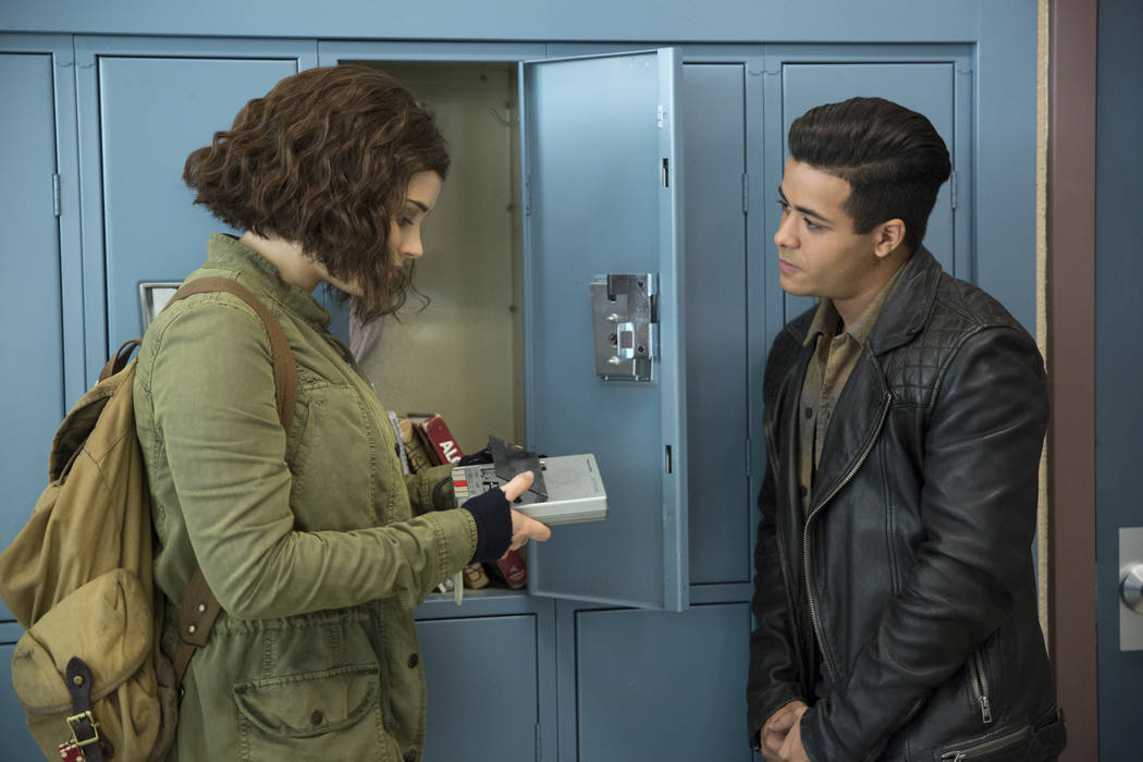 "Katherine Langford as Hannah Baker and Christian Navarro as Tony on Netflix's show ""13 Reasons Why."" (13 Reasons Why)"