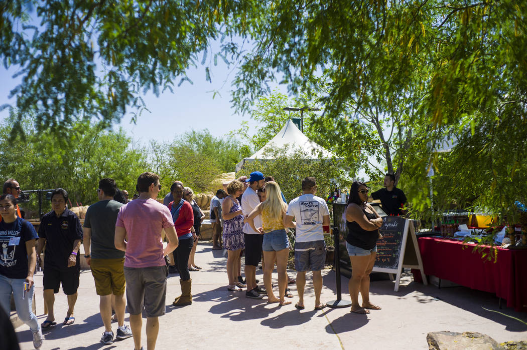 Attendees explore the 'Ohana Festival, celebrating Pacific Islander and Hawaiian cultures, at the Springs Preserve in Las Vegas on Saturday, May 6, 2017. Chase Stevens Las Vegas Review-Journal @cs ...