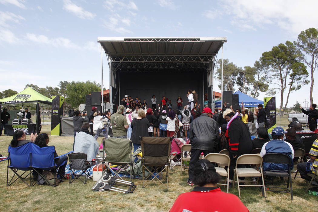 The RHXTHM Project stage at the Las Vegas Tap Festival on Sunday, May 7, 2017, at Craig Ranch Regional Park in Las Vegas. Rachel Aston Las Vegas Review-Journal @rookie__rae