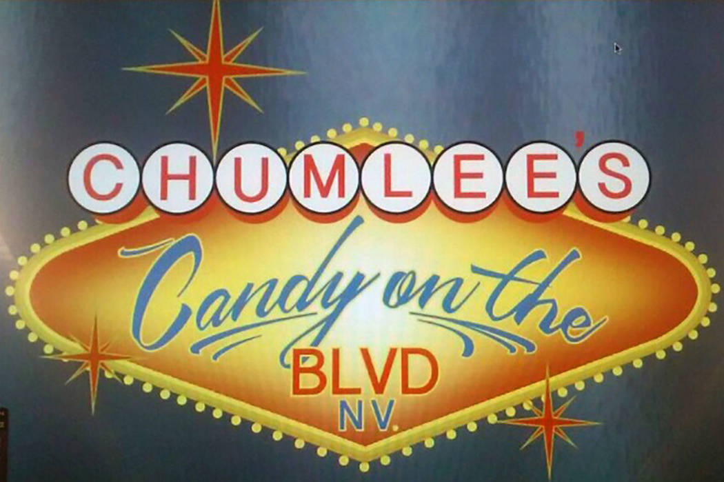 A version of the new sign for Chumlee's Candy on the Boulevard at Pawn Plaza. (Austin Russell)