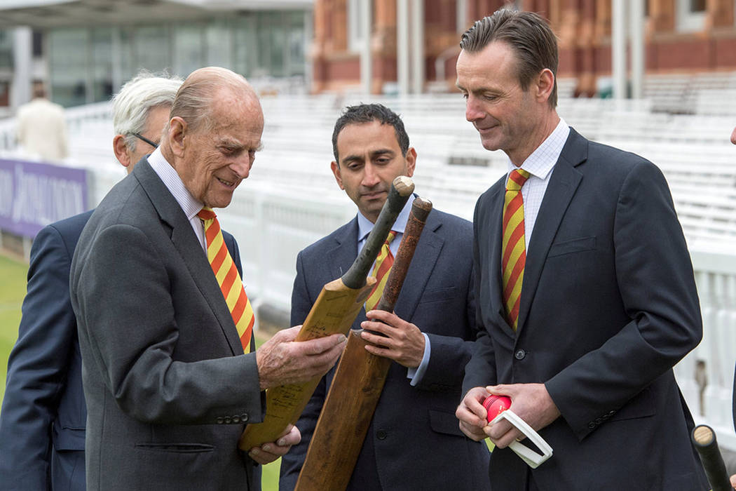 Britain's Prince Philip visits Lord's Cricket Ground where he opened the new Warner Stand, in London, May 3, 2017. (REUTERS/Arthur Edwards/Pool)