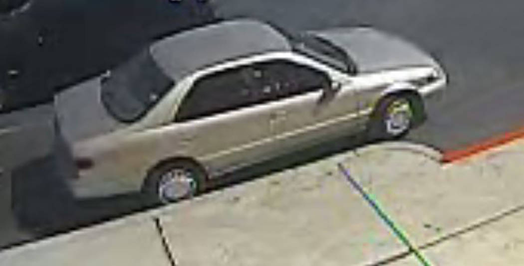 Police are looking for a man who robbed two banks in two days. He drove away in a gold four-door Toyota Camry. (Metropolitan Police Department)