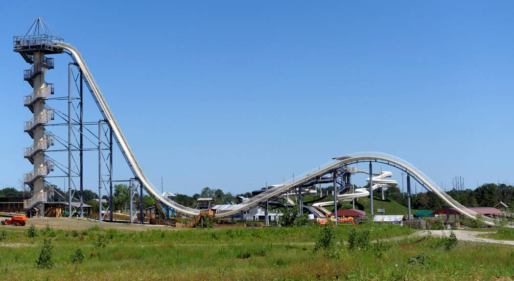 A general view of the Verruckt waterslide at the Schlitterbahn Waterpark in Kansas City, Kansas, U.S. on July 8, 2014, before its scheduled opening on July 10. (Dave Kaup/Reuters, File)
