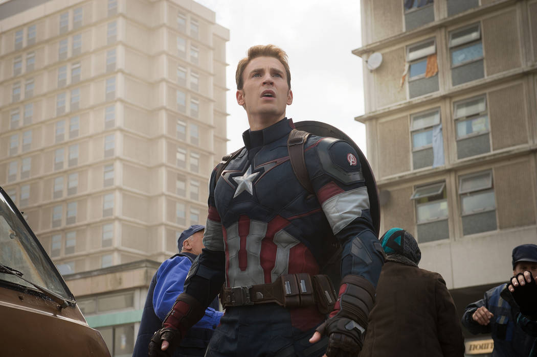 Chris Evans stars as Steve Rogers/Captain America in Marvel's Avengers: Age Of Ultron. Jay Maidment Marvel