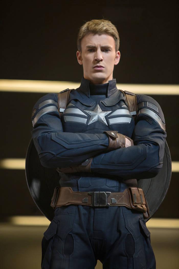 Chris Evans stars as Steve Rogers/Captain America in Marvel's Avengers: Age Of Ultron. Zade Rosenthal Marvel