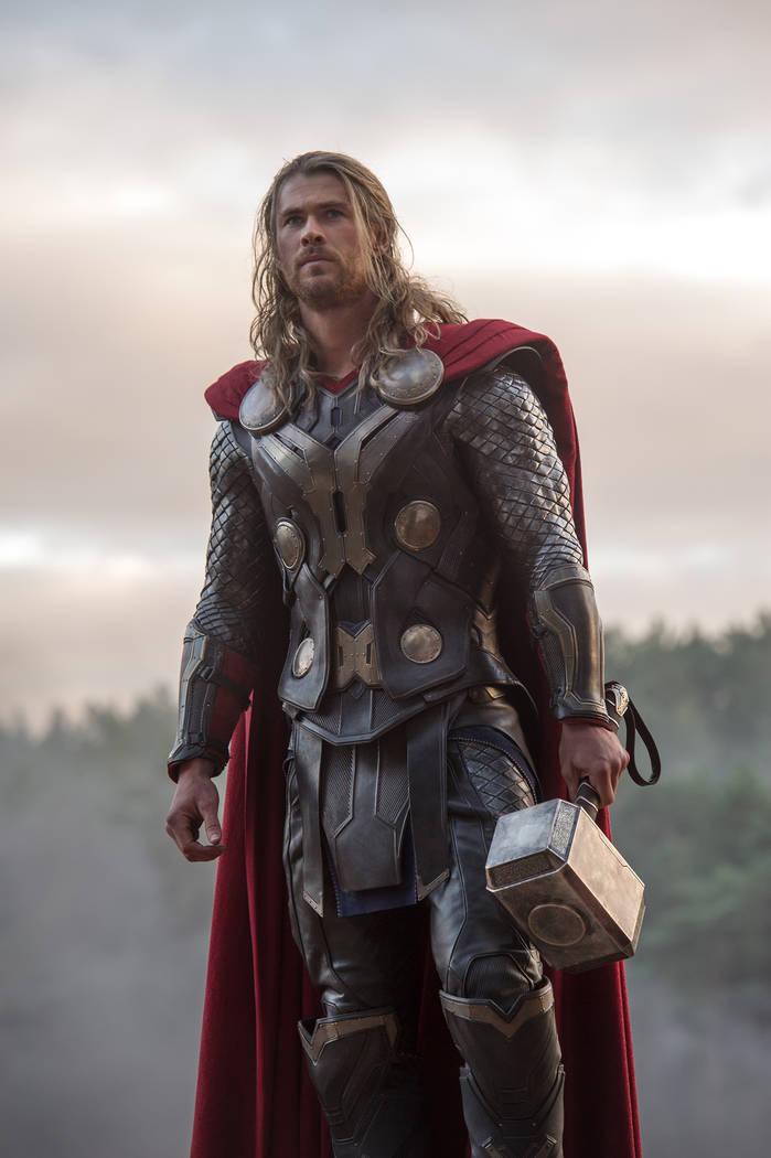 Chris Hemsworth stars as Thor. Marvel
