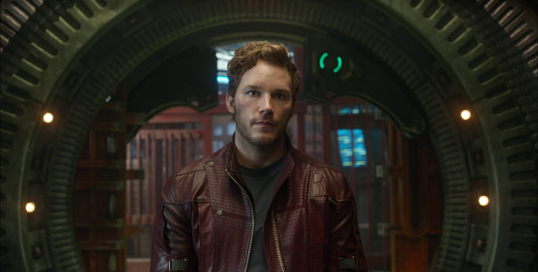 Chris Pratt is Peter Quill/Star-Lord in Marvel's Guardians Of The Galaxy. Film Frame Marvel