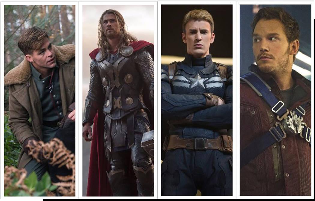 """Chris Pine stars as Captain Steve Trevor in """"Wonder Woman."""" Clay Enos DC Comics. Chris Hemsworth stars as Thor. Marvel. Chris Evans stars as Steve Rogers/Captain America in Marvel's Avengers: Age  ..."""
