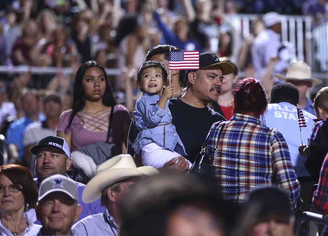Attendees during the Professional Bull Riders Last Cowboy Standing event at Las Vegas Village in Las Vegas on Saturday, May 13, 2017. Chase Stevens Las Vegas Review-Journal @csstevensphoto