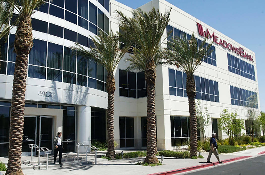 Meadows Bank notched higher profits in the first quarter and grew its loans and deposits, the bank said Thursday, May 4, 2017. Las Vegas Review-Journal file photo