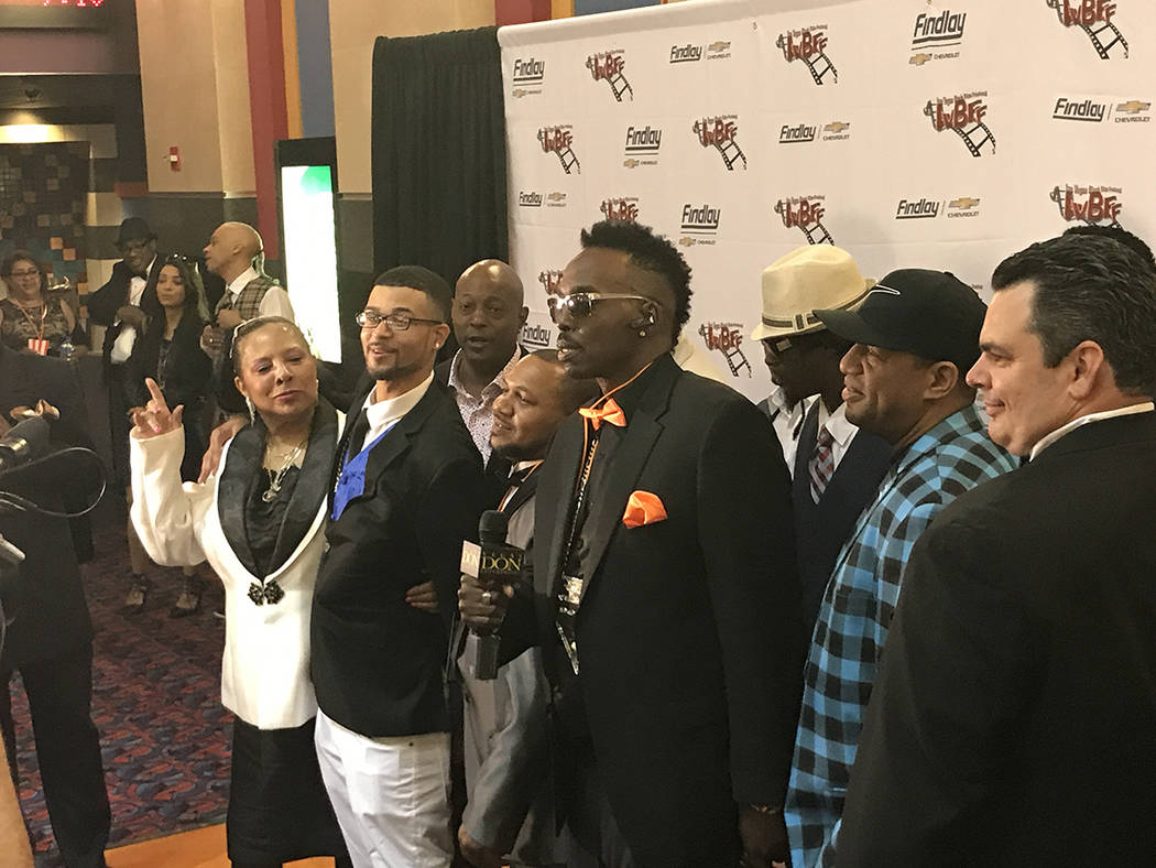 Robert Strawder stands with fellow co-stars from his movie at the Las Vegas Black Film Festival. (Danny Webster/View)