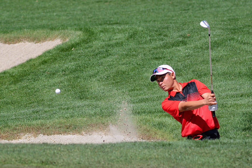 UNLV's John Oda competes in the Southern Highlands Collegiate on March 9, 2016, at Southern Highland Golf Club. (Courtesy/UNLV)