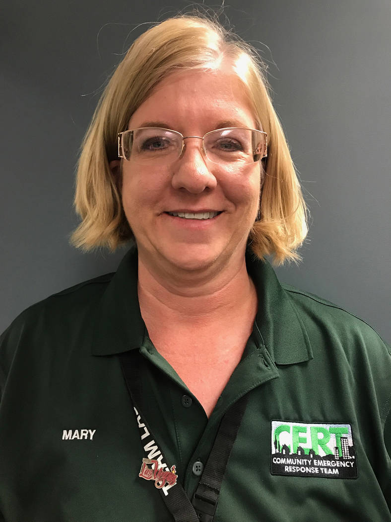 Mary Camain, City of Las Vegas CERT Program Specialist, is responsible for coordinating the training programs throughout Southern Nevada. Kailyn Brown/View