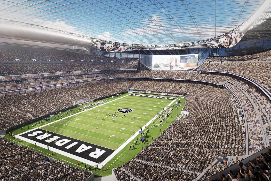 A rendering of the Las Vegas Raiders stadium project. MANICA Architecture