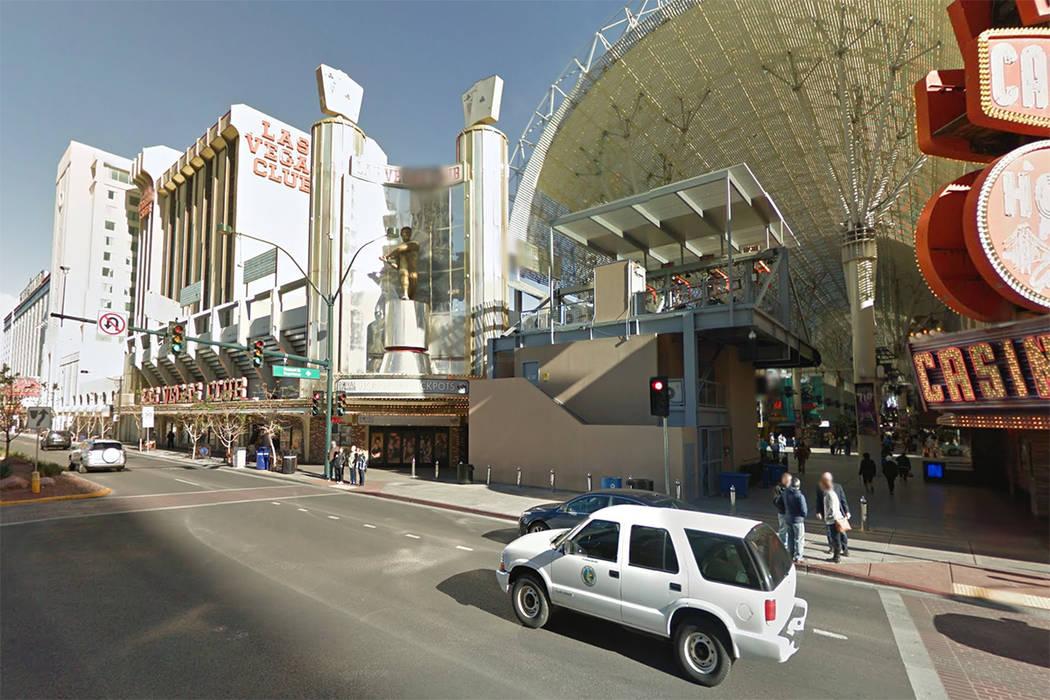 The Las Vegas Club is seen at 18 East Fremont Street in downtown Las Vegas in this screenshot. (Google)