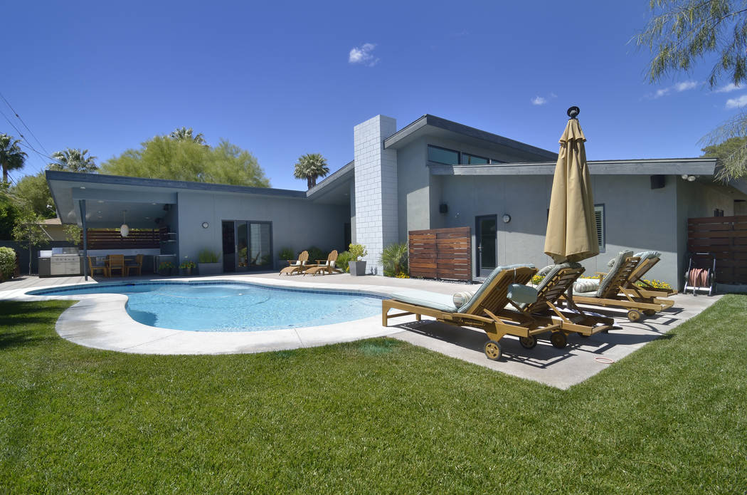 The back yard of the Phoenix House is shown on Saturday, April 29, 2017. (Bill Hughes/Las Vegas Business Press)