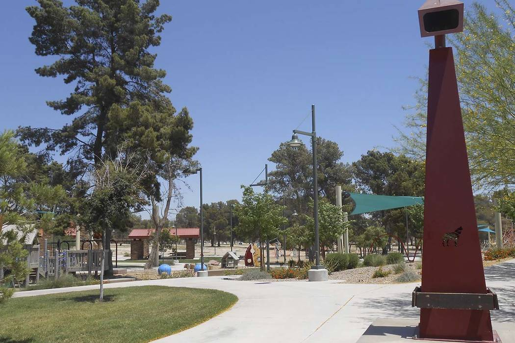 Craig Ranch Park in North Las Vegas. (James DeHaven/Las Vegas Review-Journal)