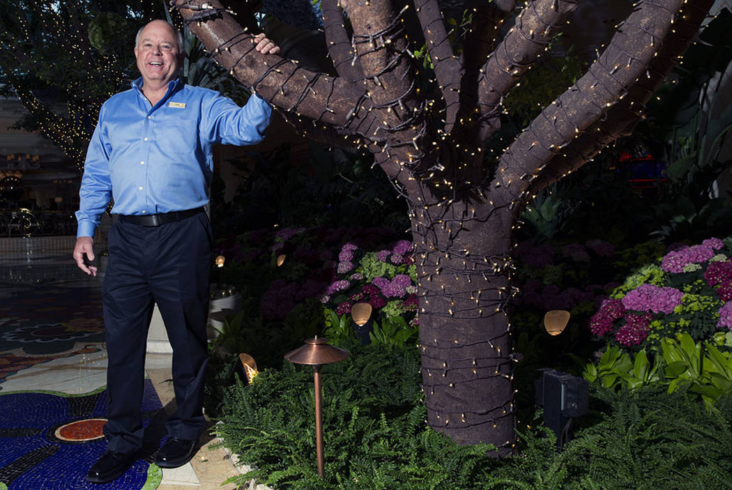Wynn Las Vegas director of horticulture Gary Cramer, at Wynn Las Vegas on Tuesday, May 9, 2017, in Las Vegas. Erik Verduzco/Las Vegas Review-Journal Follow @Erik_Verduzco