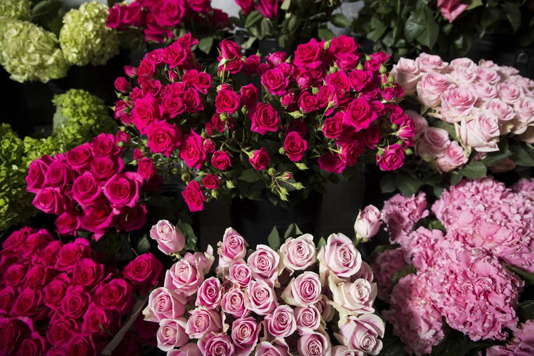 Roses at the Wynn Las Vegas floral studio Tuesday, May 9, 2017, in Las Vegas. Erik Verduzco/Las Vegas Review-Journal Follow @Erik_Verduzco