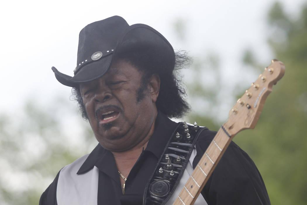 Guitar Shorty performs during the Wanee Festival on Saturday, April 16, 2011, in Live Oak, Florida. (Rick Scuteri/AP Images)