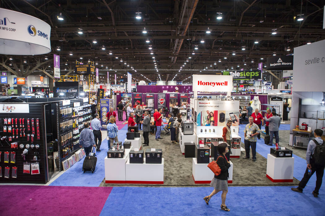 Attendees of the National Hardware Show at Las Vegas Convention Center on Wednesday, May 10, 2017. Patrick Connolly Las Vegas Review-Journal @PConnPie