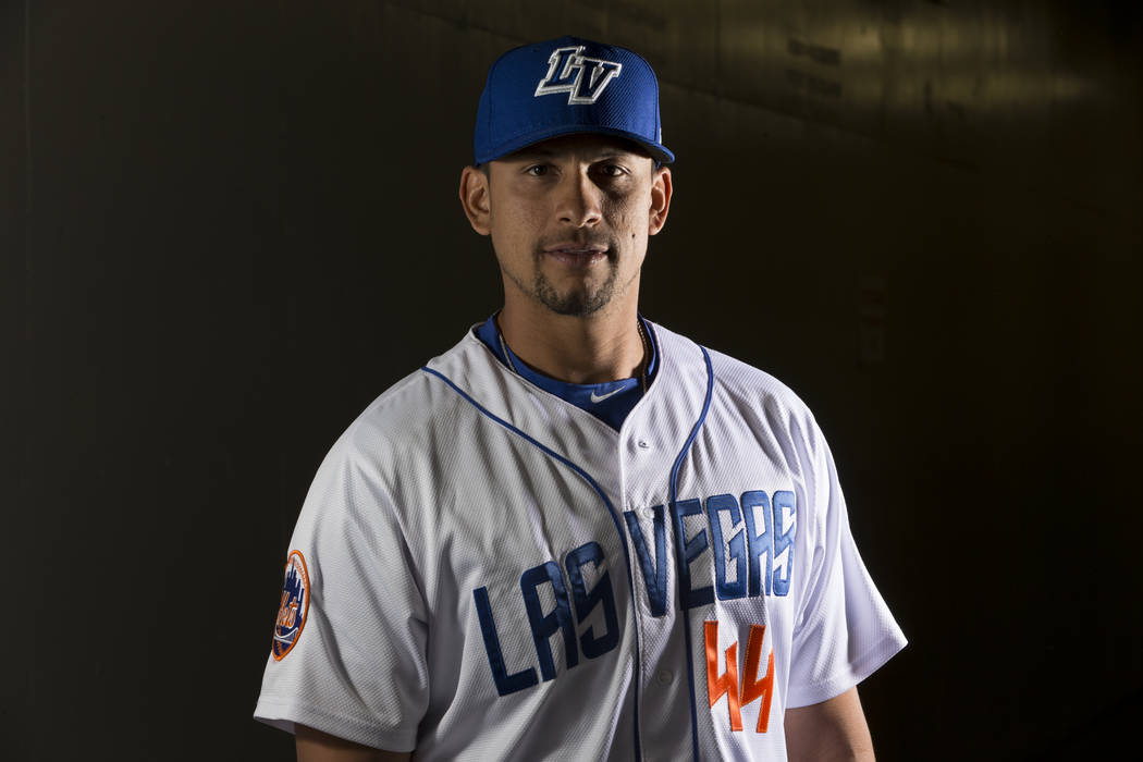 Las Vegas 51s Xorge Carrillo (44) during media day at Cashman Field on Tuesday, April 4, 2017, in Las Vegas. Erik Verduzco/Las Vegas Review-Journal Follow @Erik_Verduzco
