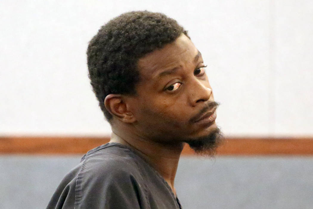 Paul Darell Jones, charged with murder in the death of his 13-year-old son Aaron Jones, appears in court at the Regional Justice Center on Tuesday, May 2, 2017, in Las Vegas. Bizuayehu Tesfaye Las ...